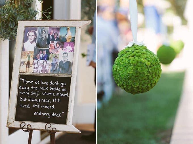 Casamento azul, verde
